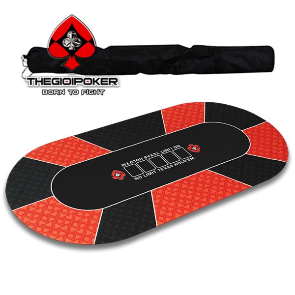 Thảm Poker V4 được trang bị 1 túi đeo thể thao rất tiện di chuyển và bảo quản