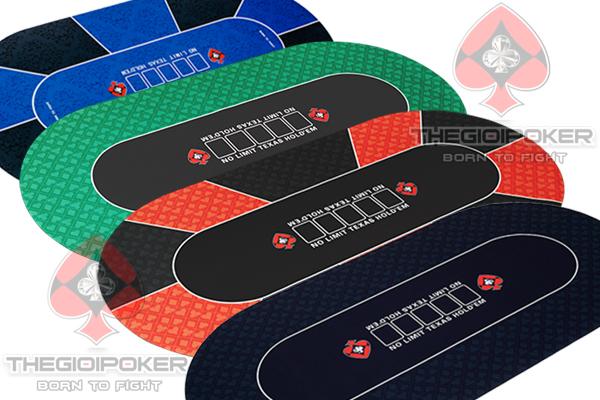 Thảm chơi poker chính hãng Oval 90x180cm