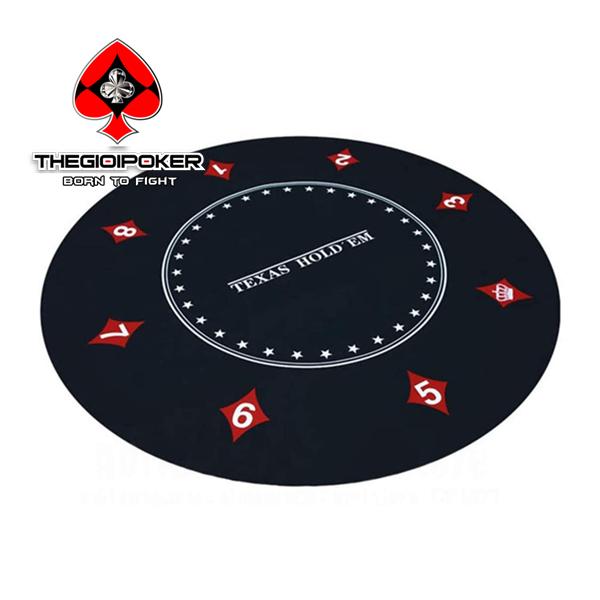 Thảm poker tròn Texas Hold'em được nhâp khẩu và phân phối bởi TheGioiPoker