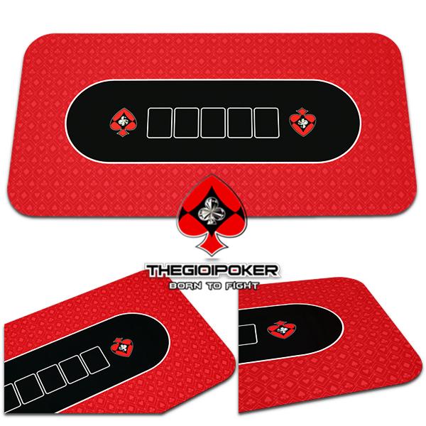 Tikar poker terbuat dari bahan karet anti selip berkualitas tinggi, permukaan datar membantu kartu meluncur dengan lancar