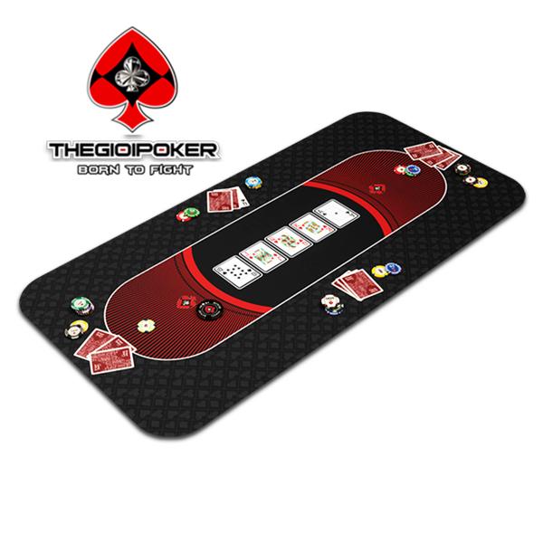 Tikar poker karet Texas Hold'em Black dapat menampung hingga 6 orang