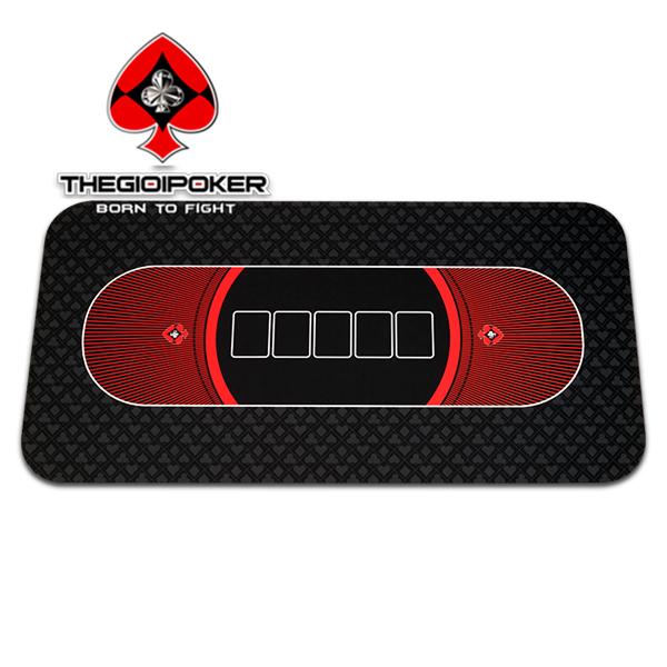 Tikar poker karet Texas Hold'em Black diimpor dan didistribusikan oleh TheGioiPoker