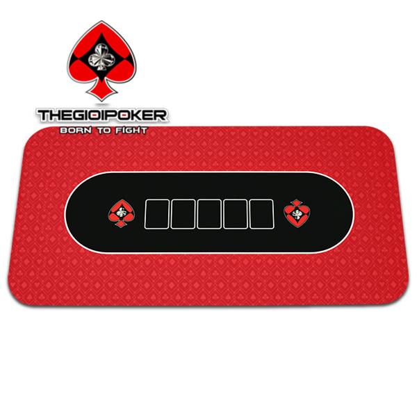 Thảm poker cao su Texas Hold'em Red được nhập khẩu và phân phối bởi TheGioiPoker